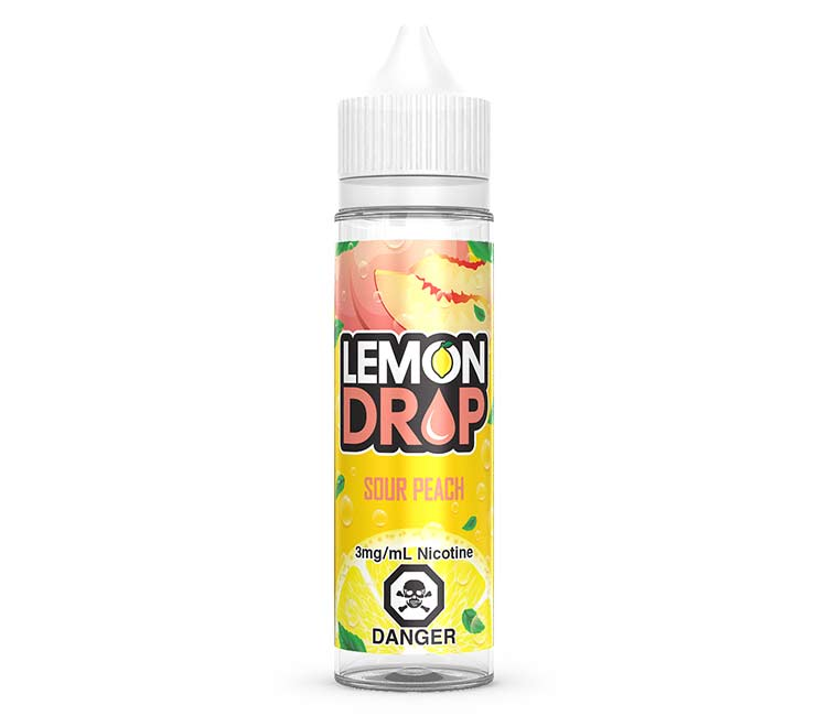 Sour Peach Free Base E-Liquid by Lemon Drop - 60ml