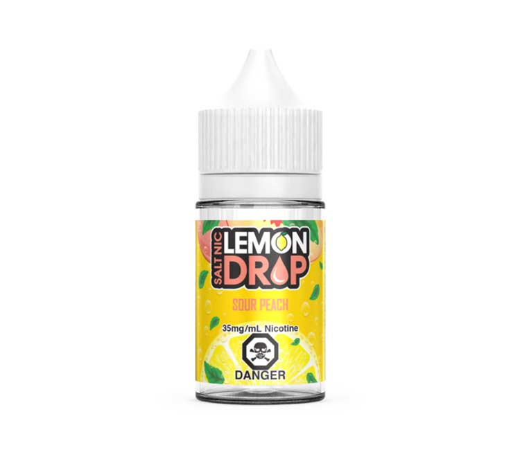Sour Peach Nic Salt E-Liquid by Lemon Drop - 30ml