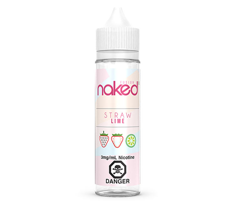 Straw Lime Free Base E-Liquid by Naked 100 – 60ml