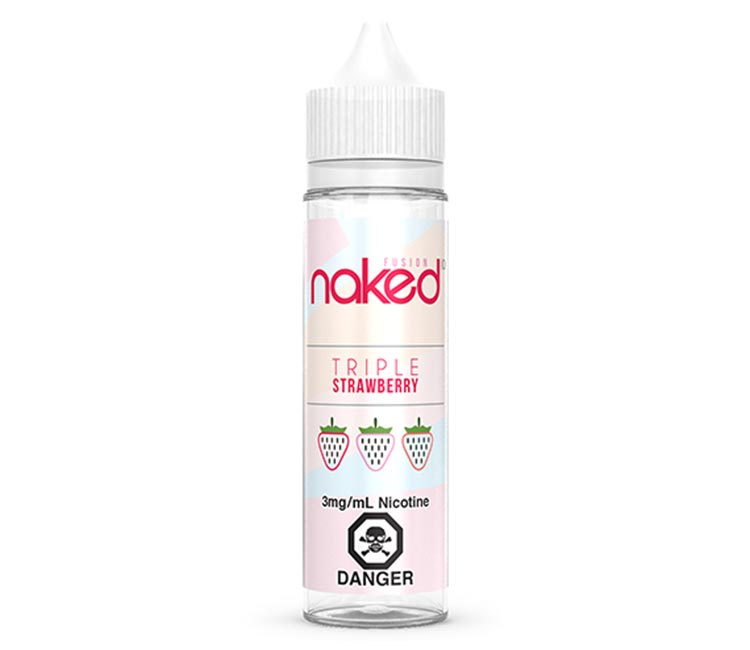 Triple Strawberry Free Base E-Liquid by Naked 100 – 60ml