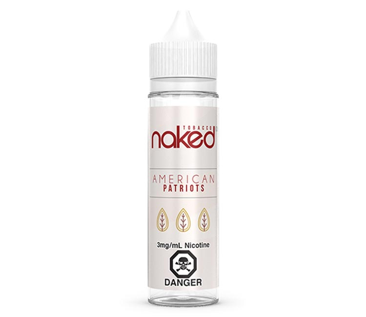 American Patriots Free Base E-Liquid by Naked 100 – 60ml
