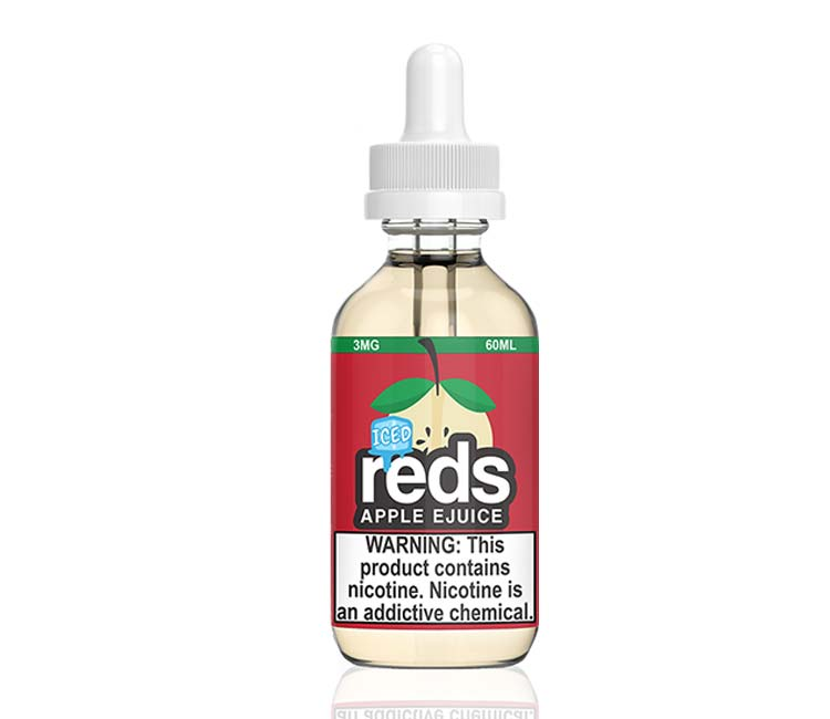 Reds Apple Iced Free Base E-Liquid by 7Daze - 60ml
