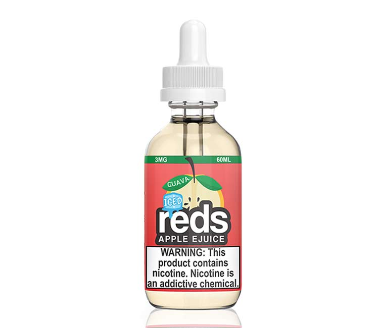 Reds Guava Apple Iced Free Base E-Liquid by 7Daze - 60ml