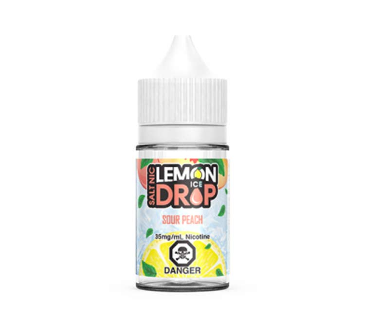 Sour Peach Ice E-Liquid by Lemon Drop - Nic Salt (30ml)