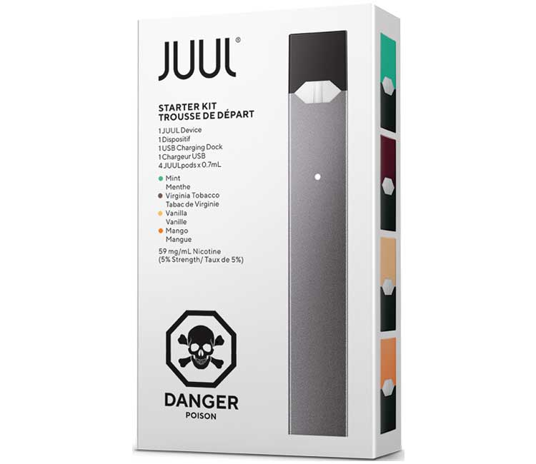 JUUL Starter Kit (including accessories and pods)