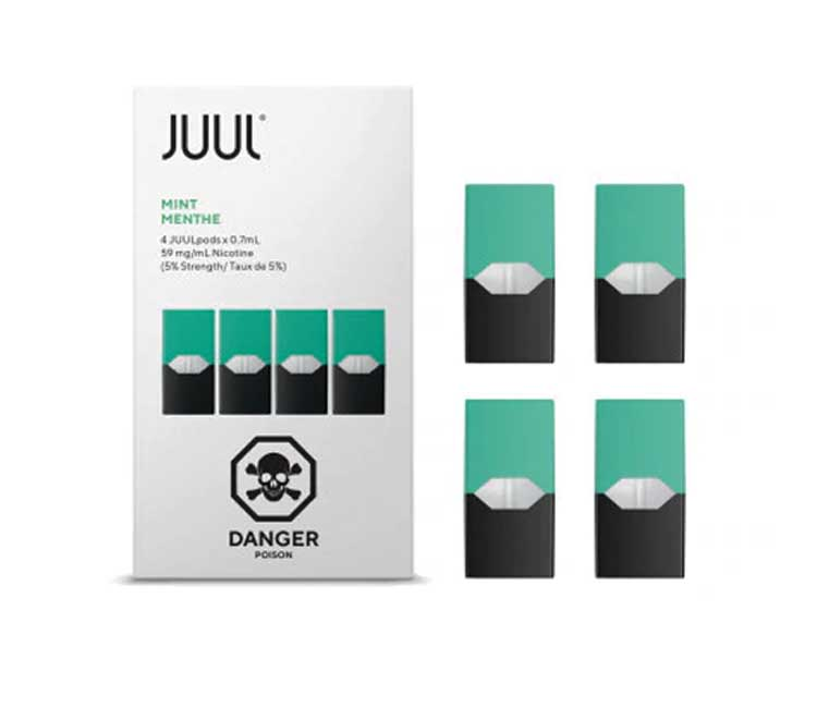JUUL Pod Mint Flavor (Pack of 4 pods)