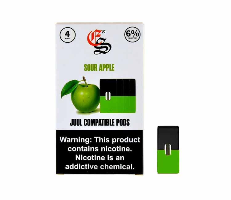 Eon Pod Sour Apple Flavor - Nic Salt (JUUL Compatible)
