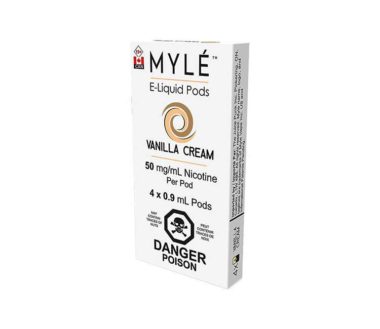 Vanilla Cream Vape Pods by MYLÉ