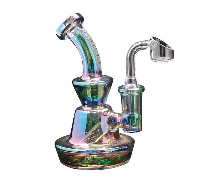 """Red Eye Tek 5"""" Metallic Terminator Finish Concentrate Rig with D"""