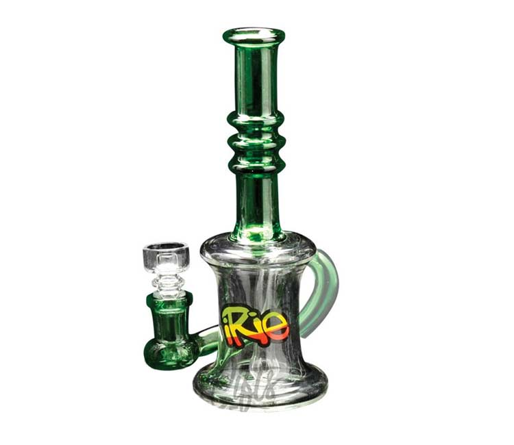 "iRie 7"" One Drop Concentrate Bubbler with Showerhead Perc & Domeless Quartz Nail"