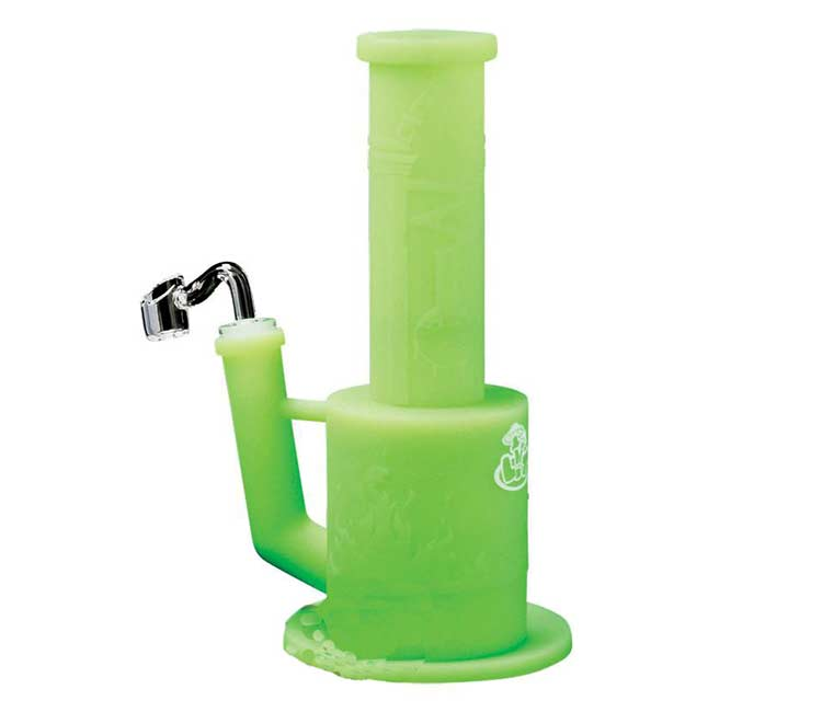 LITSilicone 9 InchesConcentrate 2-Piece with Glass Adapter & Quartz Banger