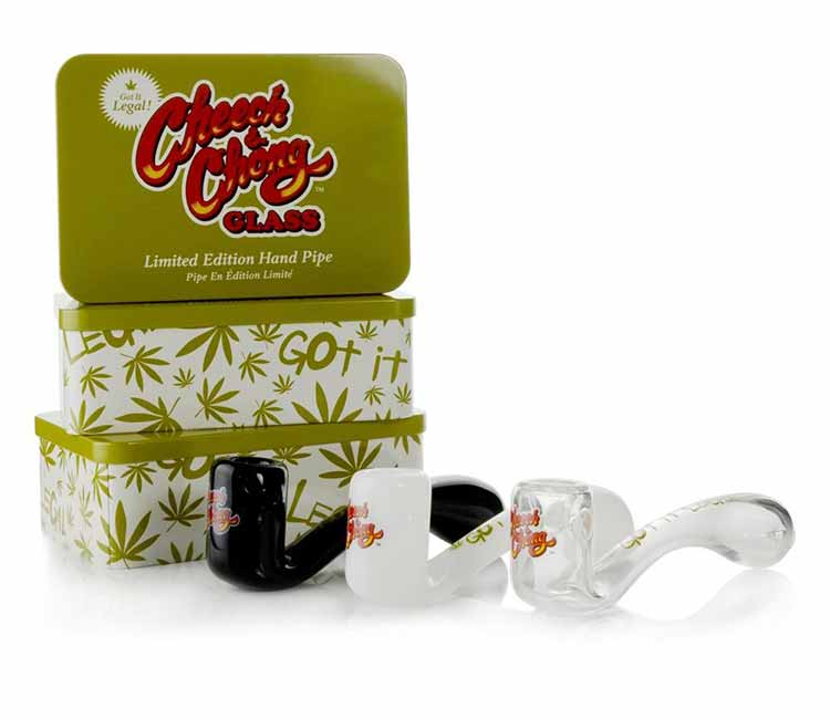 Limited Edition Commemorative Cheech & Chong Glass Commemorative Sherlock Hand Pipe