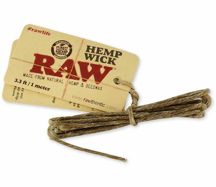 Raw Hemp Wicks and Beeswax 3.3Ft / 1 Meter