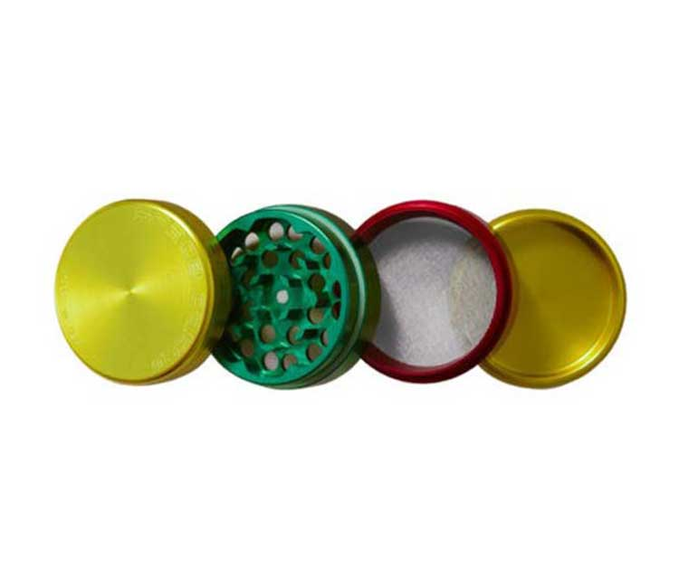 Space Case 4pc Rasta Grinder Small