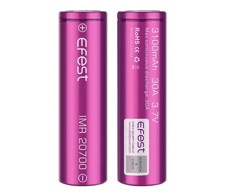 Efest IMR 20700 3100mAh 30A 3.7V Purple Battery