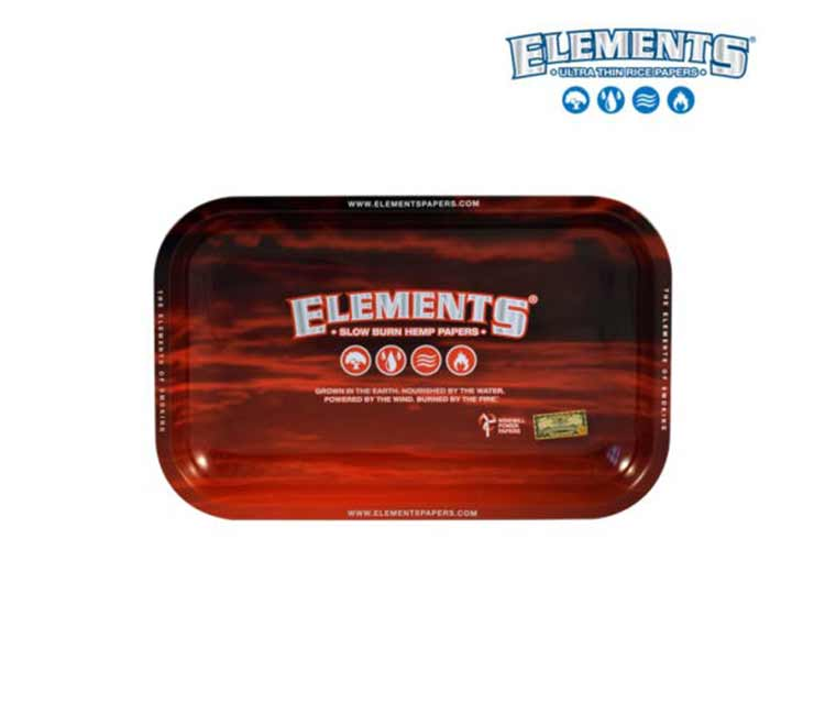 Elements Metal Red Rolling Trays (Large / Small)