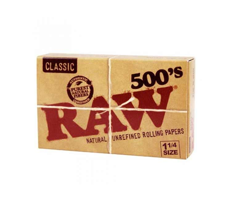 RAW Classic 1¼ 500'S Pack - Natural Unrefined Rolling Papers