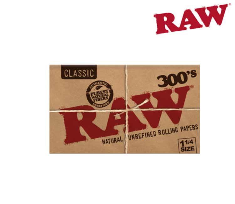 RAW Classic 1¼ 300'S - Natural Unrefined Rolling Papers