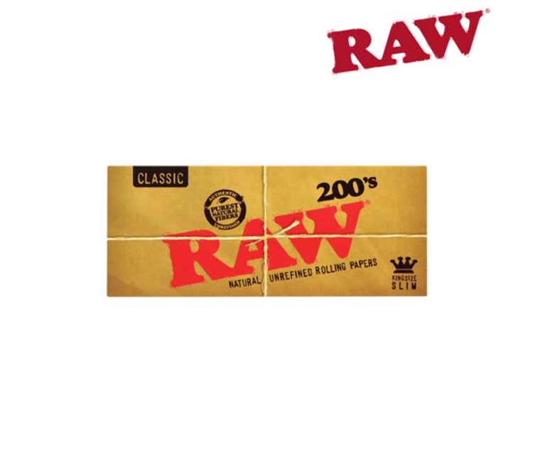 Raw King Size Slim 200's Pack