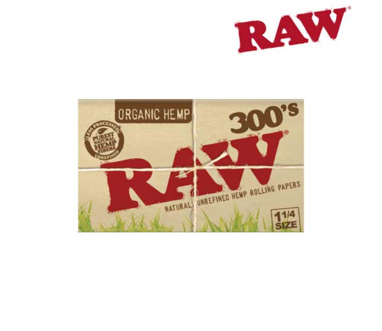 Raw Organic Hemp 1¼ 300'S - Natural Unrefined Rolling Papers