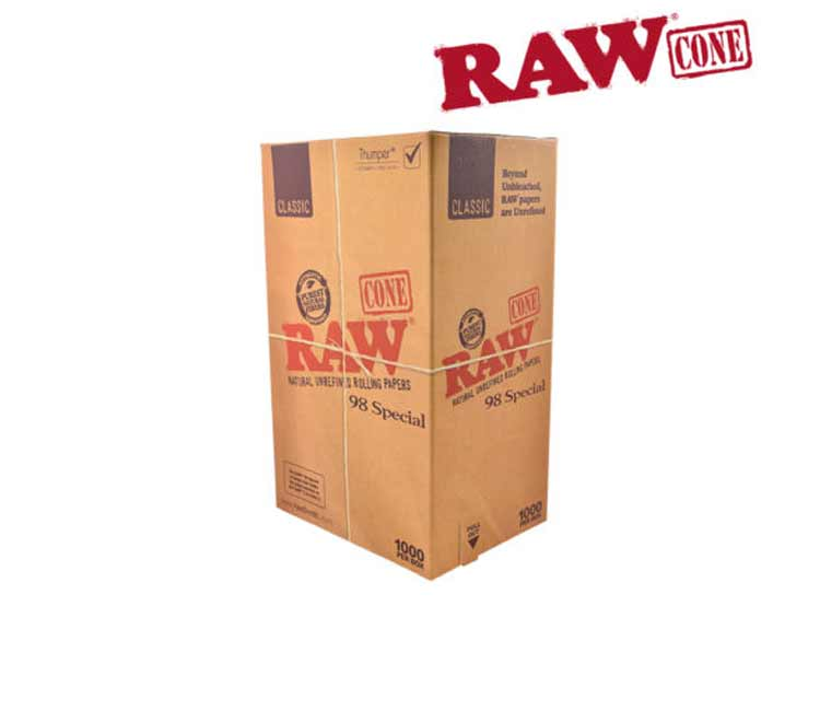 Raw Classic Pre-Rolled Cone 98 Special – Bulk Box of 1000