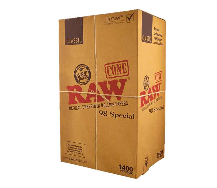 Raw Classic Pre-Rolled Cone 98 Special – Bulk Box of 1400
