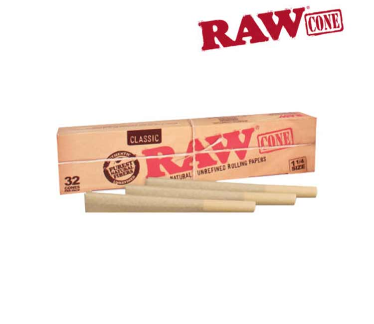 Raw Classic Pre-Rolled Cone 1¼ – Pack of 32