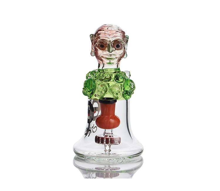 Cheech Glass 7.5 Inch Green Monster Rig
