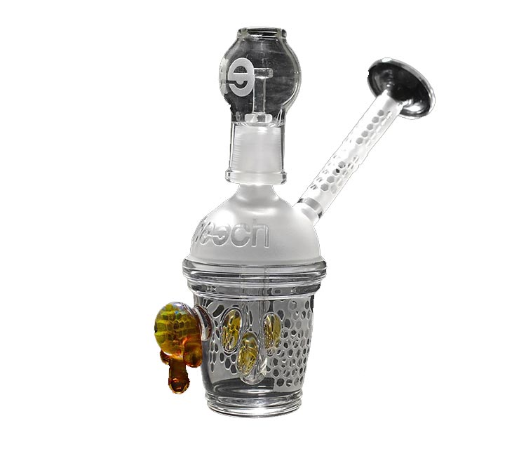 Cheech Glass 6 Inch Mini Sandblast Honey Cup Rig