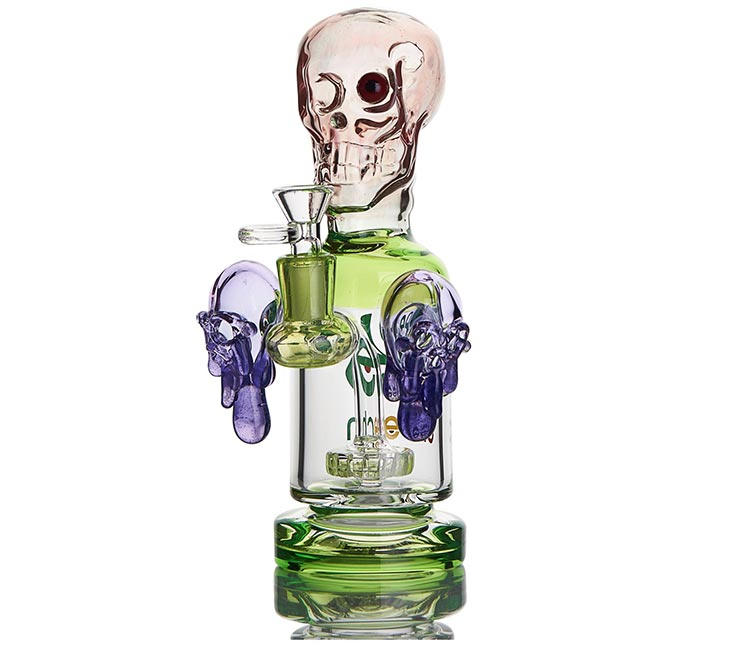 Cheech Glass 9.5 Inch Skull Perc