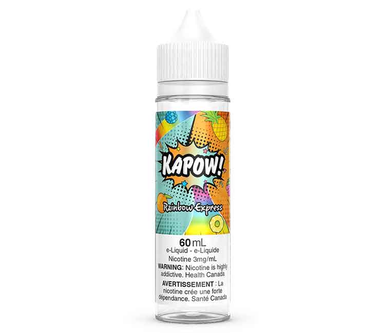 Rainbow Express by KAPOW Free Base E Liquid - 60 ml