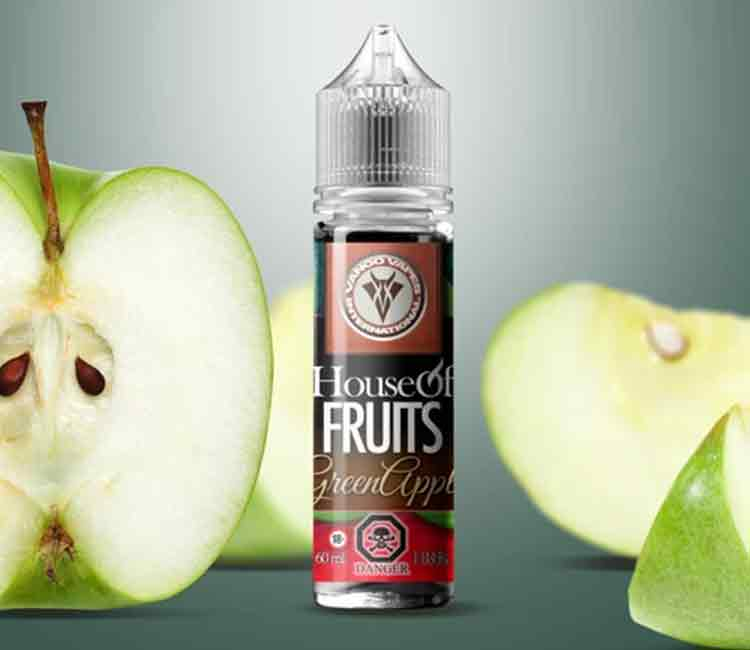 Green Apple by Vango Vape Free Base E-Liquid – 60ml